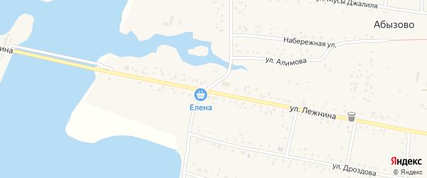 Улица Победы на карте села Абызово с номерами домов