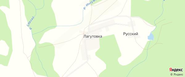 Карта деревни Лагутовки в Башкортостане с улицами и номерами домов