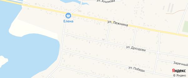 Улица Мусы Джалиля на карте села Абызово с номерами домов