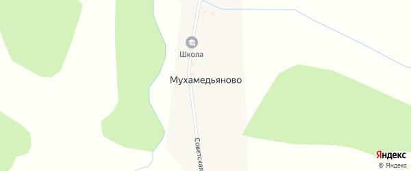 Советская улица на карте деревни Мухамедьяново с номерами домов