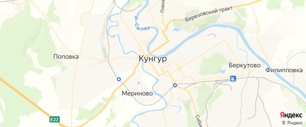 Карта Кунгура с районами, улицами и номерами домов