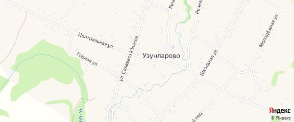 Центральная улица на карте села Узунларово с номерами домов