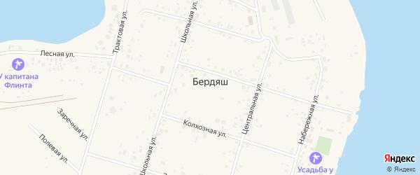 Школьная улица на карте села Бердяша с номерами домов
