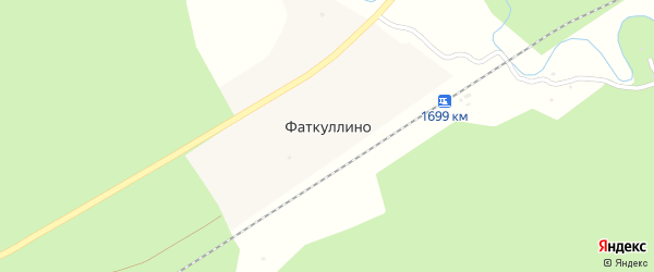 Подгорная улица на карте деревни Фаткуллино с номерами домов