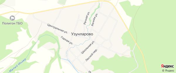 Карта села Узунларово в Башкортостане с улицами и номерами домов