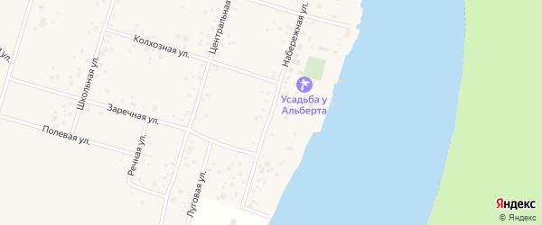 Набережная улица на карте села Бердяша с номерами домов