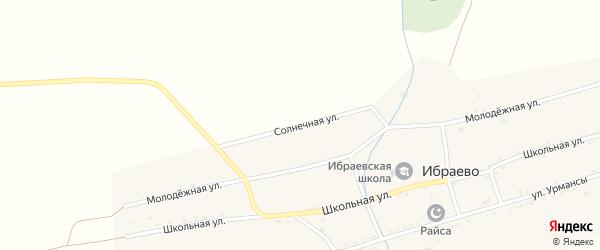 Солнечная улица на карте деревни Ибраево с номерами домов