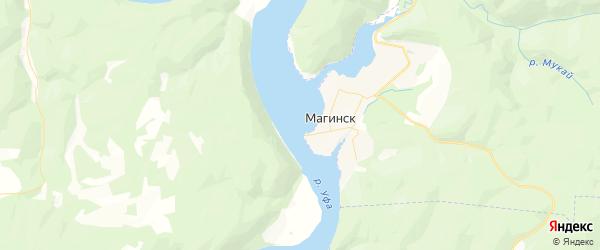 Карта Магинского сельсовета республики Башкортостан с районами, улицами и номерами домов