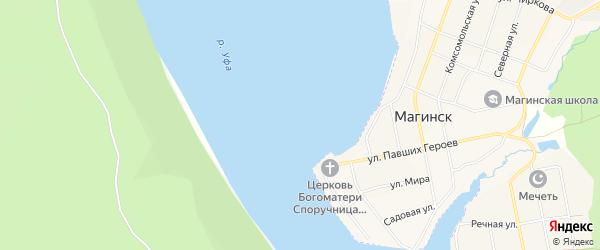 Карта деревни Нового Бердяша в Башкортостане с улицами и номерами домов