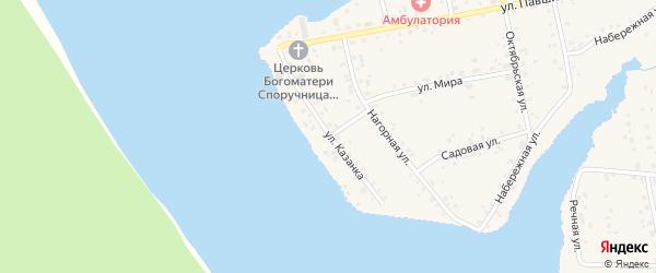 Улица Казанка на карте села Магинска с номерами домов