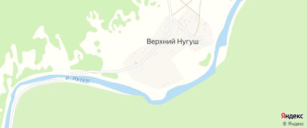 Улица Нугуш на карте деревни Верхнего Нугуша с номерами домов