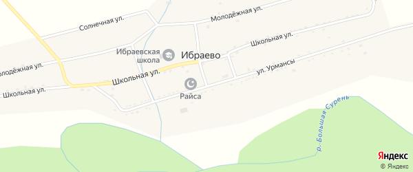 Улица Урмансы на карте деревни Ибраево с номерами домов