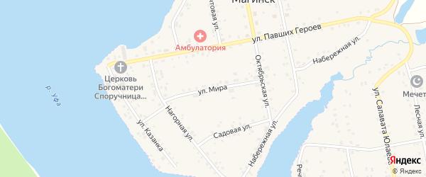 Улица Мира на карте села Магинска с номерами домов