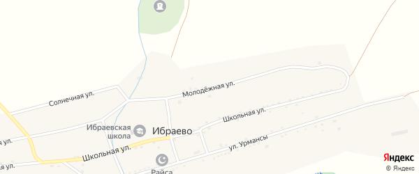 Молодежная улица на карте деревни Ибраево с номерами домов