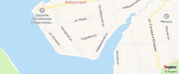 Садовая улица на карте села Магинска с номерами домов