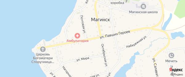 Улица Павших Героев на карте села Магинска с номерами домов