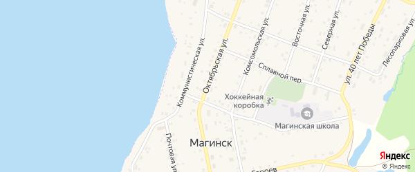 Октябрьская улица на карте села Магинска с номерами домов