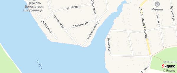 Набережная улица на карте села Магинска с номерами домов
