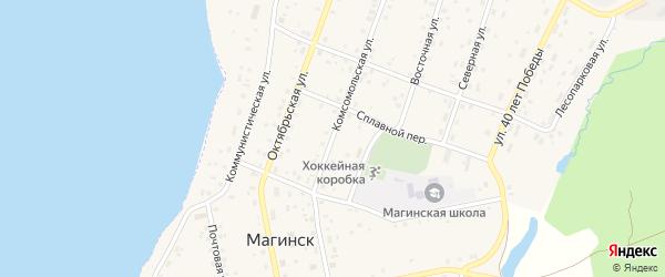 Комсомольская улица на карте села Магинска с номерами домов