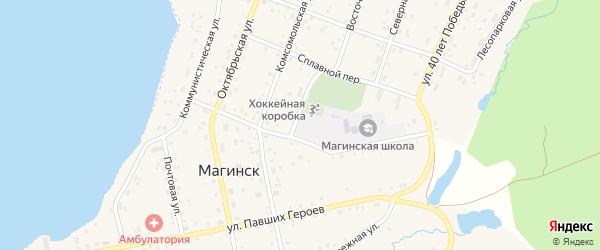 Сплавной переулок на карте села Магинска с номерами домов