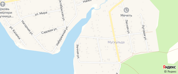 Речная улица на карте села Магинска с номерами домов