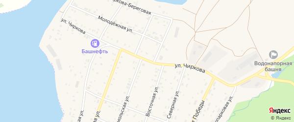 Улица Чиркова на карте села Магинска с номерами домов