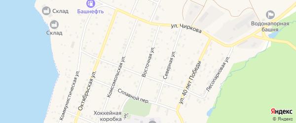Восточная улица на карте села Магинска с номерами домов