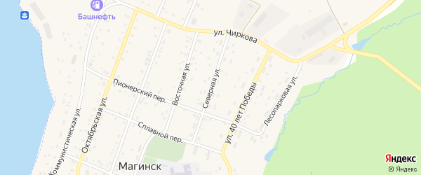 Северная улица на карте села Магинска с номерами домов
