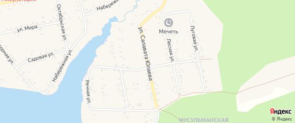 Улица Салавата Юлаева на карте села Магинска с номерами домов