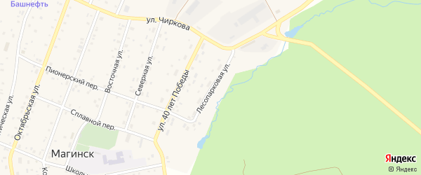 Лесопарковая улица на карте села Магинска с номерами домов