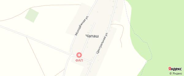 Набережная улица на карте деревни Чапаш с номерами домов