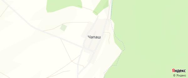 Карта деревни Чапаш в Башкортостане с улицами и номерами домов