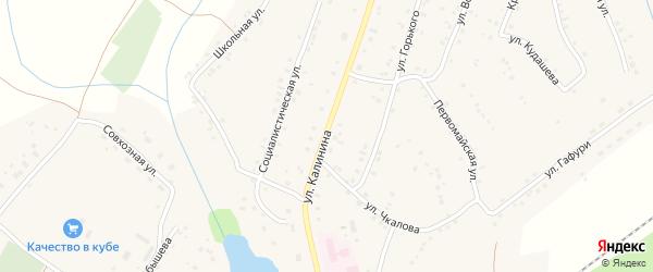 Улица Калинина на карте села Улу-Теляка с номерами домов