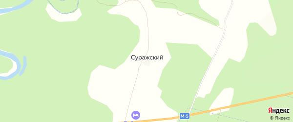 Карта деревни Суражского в Башкортостане с улицами и номерами домов