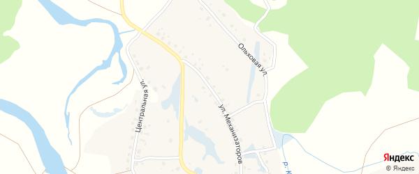 Улица Механизаторов на карте села Нижние Лемезы с номерами домов