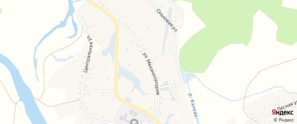 Ольховая улица на карте села Нижние Лемезы с номерами домов