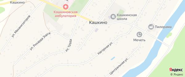 Заречная улица на карте села Кашкино с номерами домов