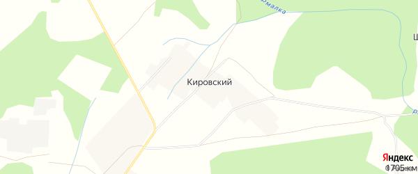 Карта деревни Кировского в Башкортостане с улицами и номерами домов