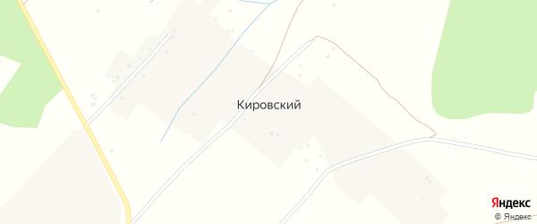 Дачная улица на карте деревни Кировского с номерами домов