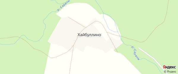 Улица Валеева на карте деревни Хайбуллино с номерами домов