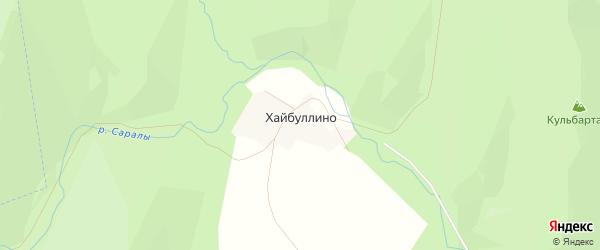 Карта деревни Хайбуллино в Башкортостане с улицами и номерами домов