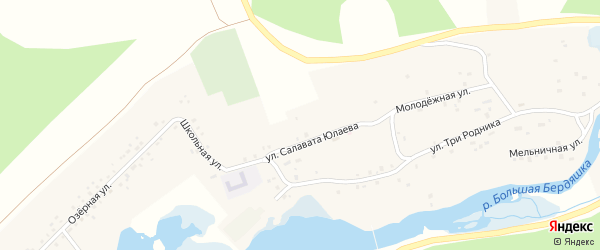 Картипская улица на карте деревни Абдуллино с номерами домов