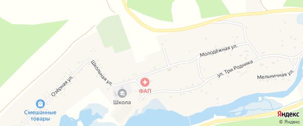 Янаульская улица на карте деревни Абдуллино с номерами домов