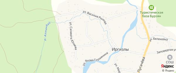 Улица Якова Горшенина на карте деревни Иргизлы с номерами домов