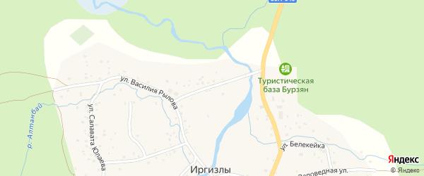 Старозаводская улица на карте деревни Иргизлы с номерами домов