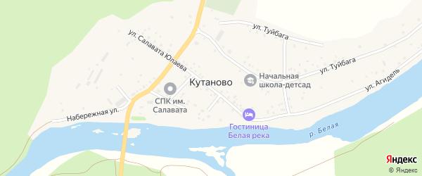 Набережная улица на карте деревни Кутаново с номерами домов