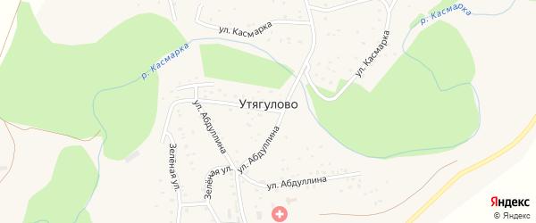 Улица С.Абдуллина на карте деревни Утягулово с номерами домов