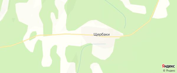 Карта хутора Щербаки в Башкортостане с улицами и номерами домов