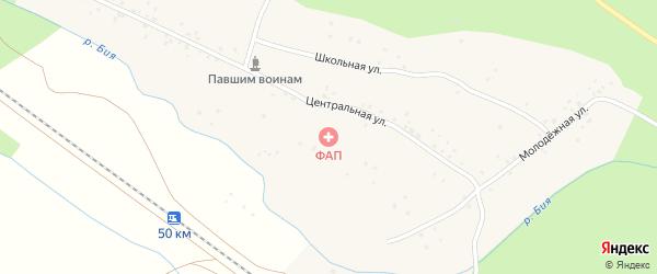 Центральная улица на карте деревни Айтмембетово с номерами домов