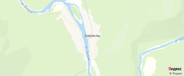 Карта деревни Зириклы в Башкортостане с улицами и номерами домов